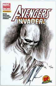 Avengers Invaders #11 Dynamic Forces Variant Signed Alex Ross DF COA Red Skull Marvel comic book